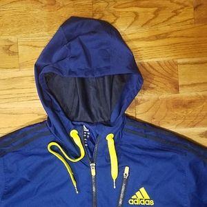 Adidas pullover windbreaker jacket blue med
